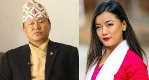 प्रदेश १ का मुख्यमन्त्री शेरधन राईले आफू भन्दा ३० वर्ष कान्छी 'मिस मंगोल' सँग विवाह गर्दै